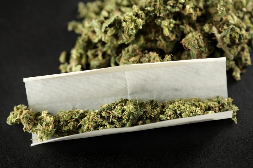 Marijuana unrolled